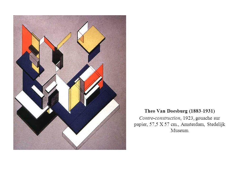 Theo Van Doesburg (1883-1931) Contre-construction, 1923, gouache sur papier, 57,5 X 57 cm., Amsterdam, Stedelijk Museum.