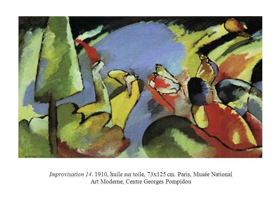 Improvisation 14. 1910, huile sur toile, 73x125 cm