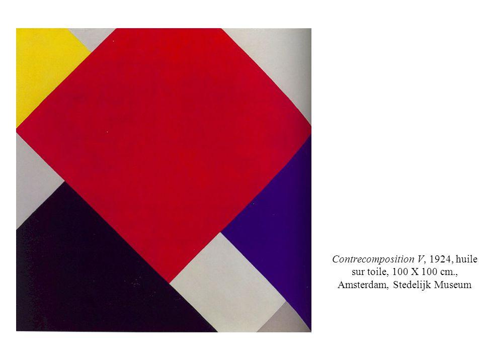 Contrecomposition V, 1924, huile sur toile, 100 X 100 cm