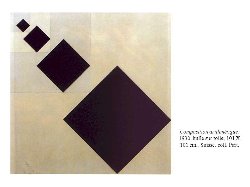 Composition arithmétique, 1930, huile sur toile, 101 X 101 cm