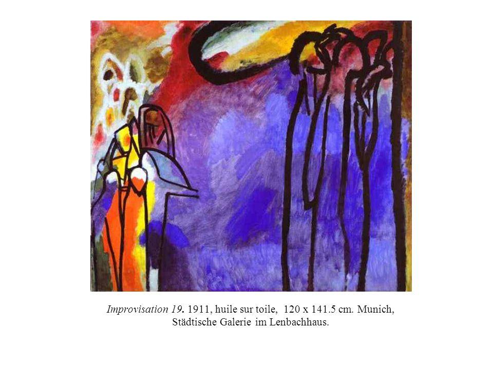 Improvisation 19. 1911, huile sur toile, 120 x 141. 5 cm
