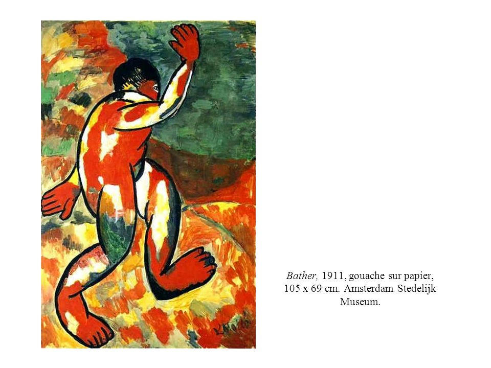Bather, 1911, gouache sur papier, 105 x 69 cm