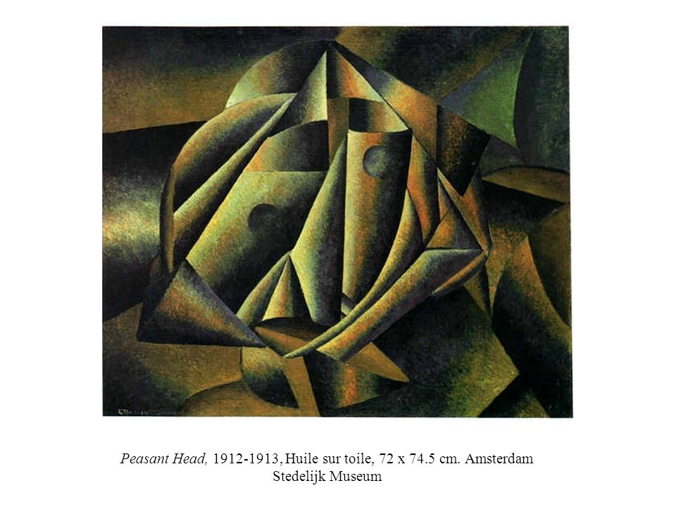Peasant Head, 1912-1913, Huile sur toile, 72 x 74. 5 cm