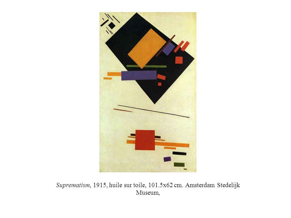 Suprematism, 1915, huile sur toile, 101. 5x62 cm
