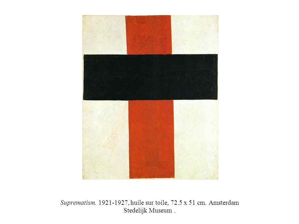 Suprematism. 1921-1927, huile sur toile, 72. 5 x 51 cm