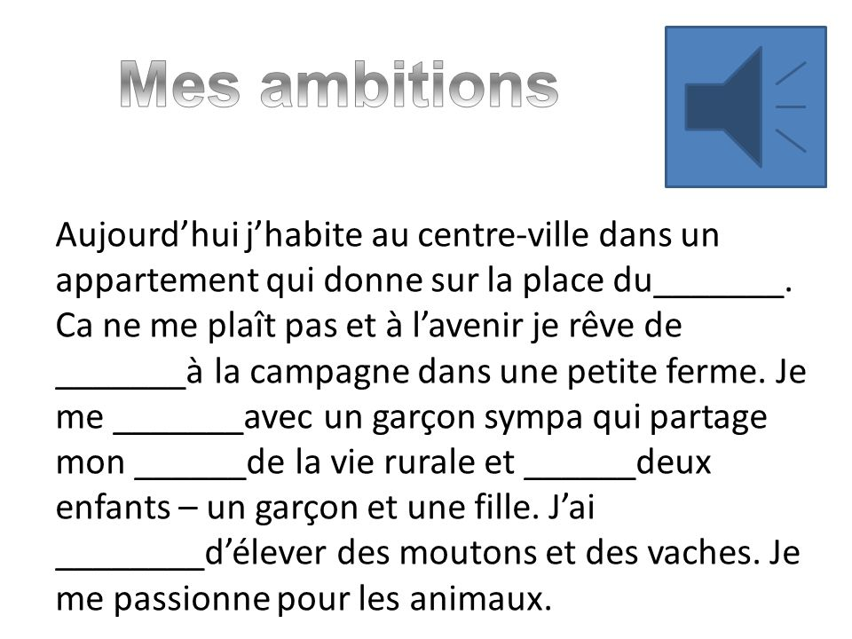 Mes ambitions