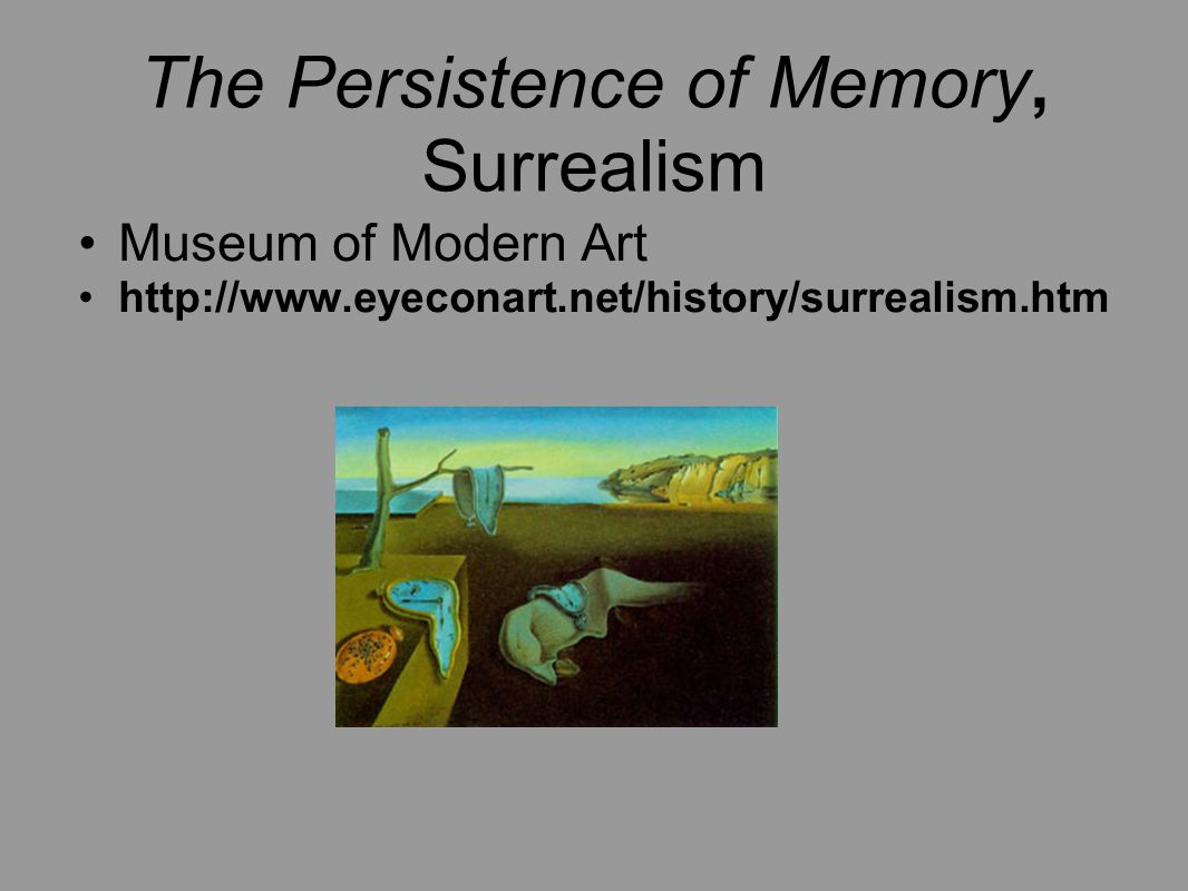 The Persistence of Memory, Surrealism