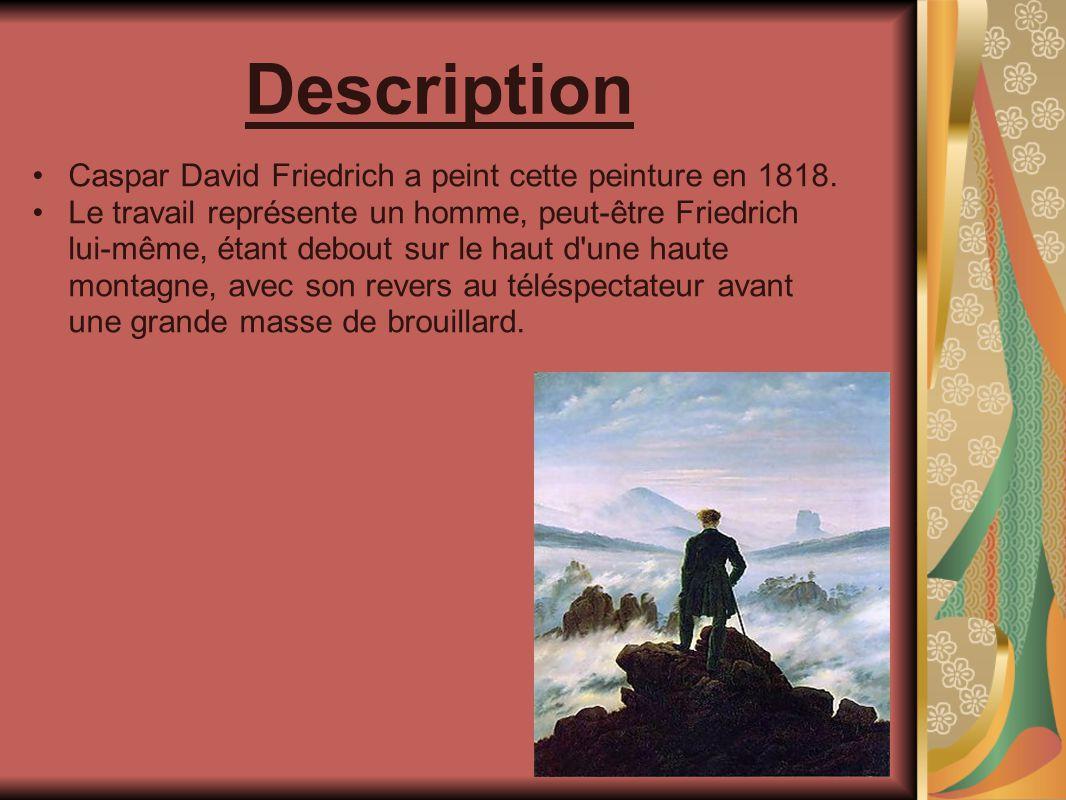 Description Caspar David Friedrich a peint cette peinture en 1818.