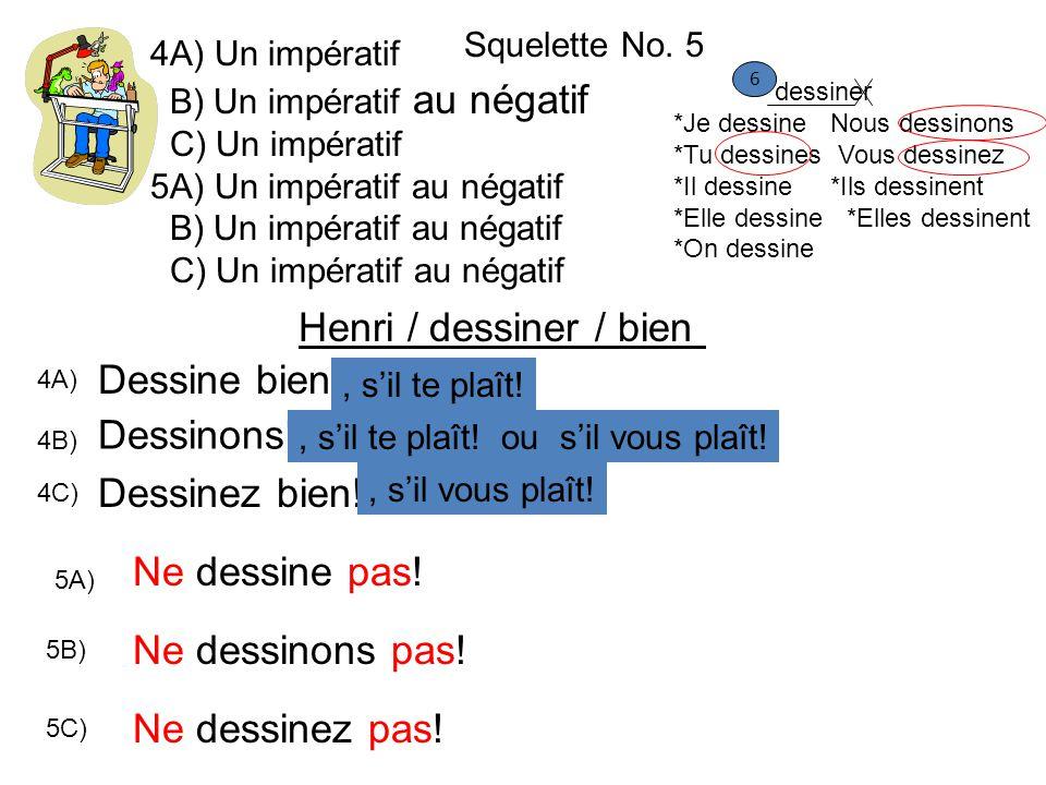 Henri / dessiner / bien Dessine bien! Dessinons! Dessinez bien!