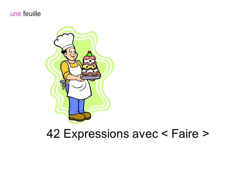 42 Expressions avec < Faire >