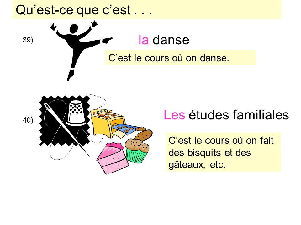 Qu'est-ce que c'est . . . la danse Les études familiales
