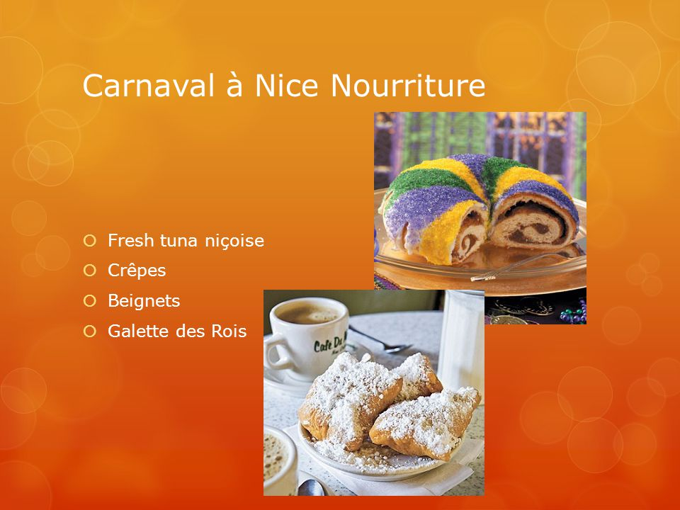 Carnaval à Nice Nourriture