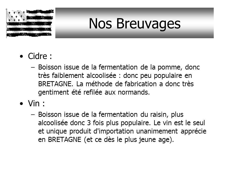 Nos Breuvages Cidre : Vin :