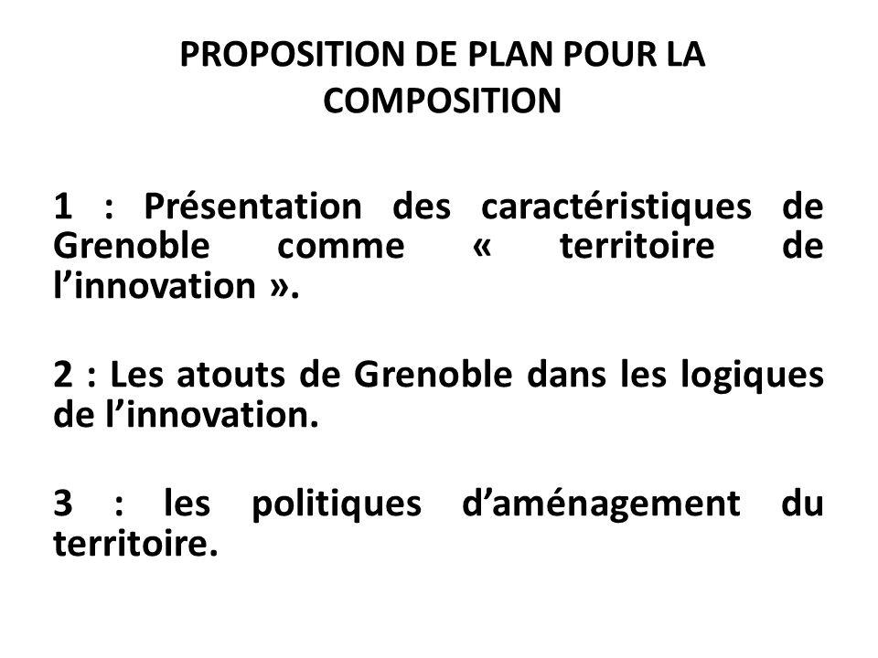PROPOSITION DE PLAN POUR LA COMPOSITION