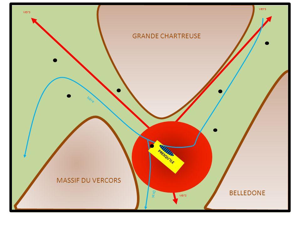 GRANDE CHARTREUSE MASSIF DU VERCORS BELLEDONE vers vers Isère