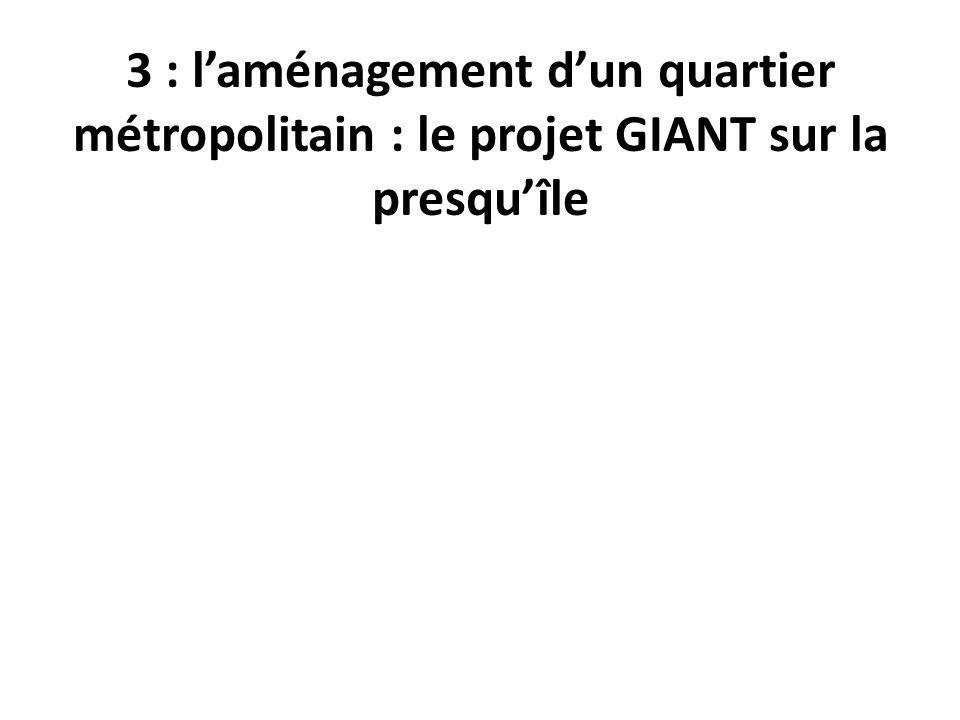 3 : l'aménagement d'un quartier métropolitain : le projet GIANT sur la presqu'île
