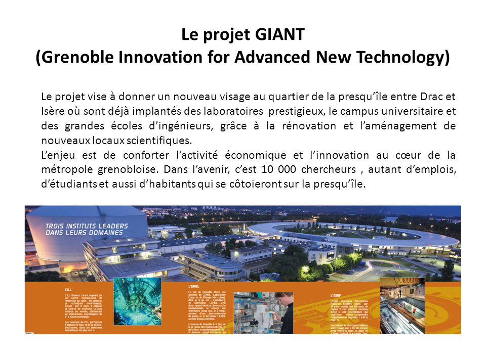 Le projet GIANT (Grenoble Innovation for Advanced New Technology)