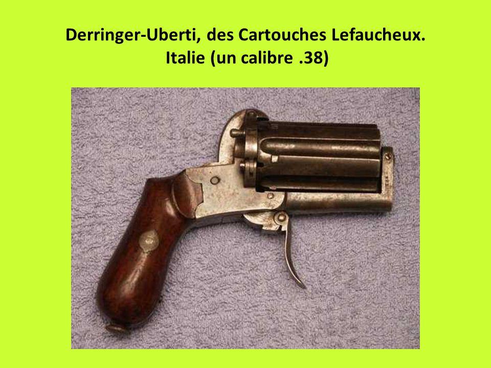 Derringer-Uberti, des Cartouches Lefaucheux. Italie (un calibre .38)