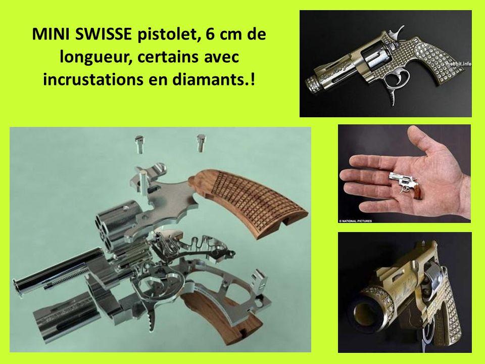 MINI SWISSE pistolet, 6 cm de longueur, certains avec incrustations en diamants.!