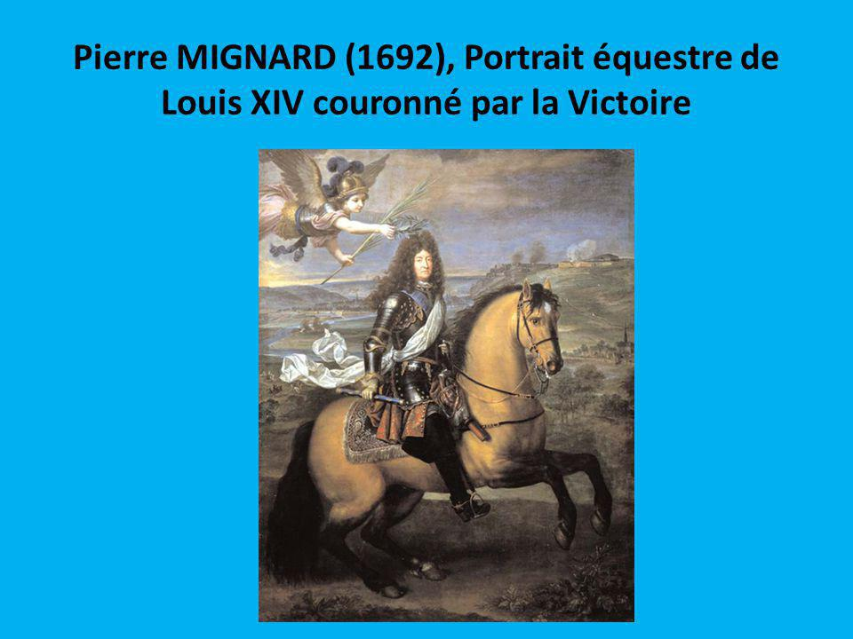 Pierre MIGNARD (1692), Portrait équestre de Louis XIV couronné par la Victoire