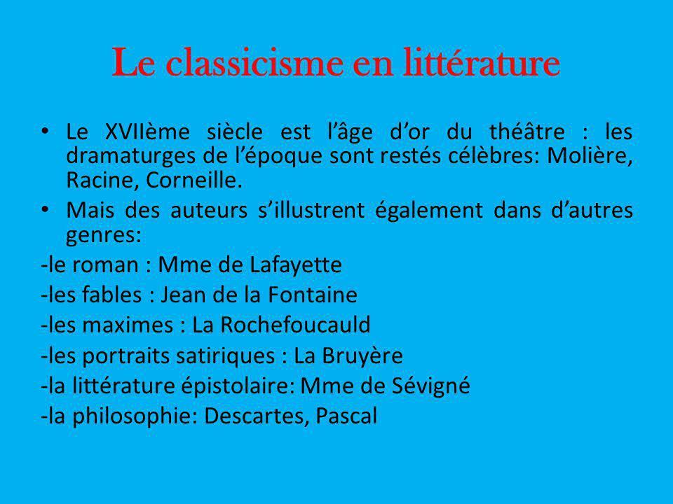 Le classicisme en littérature