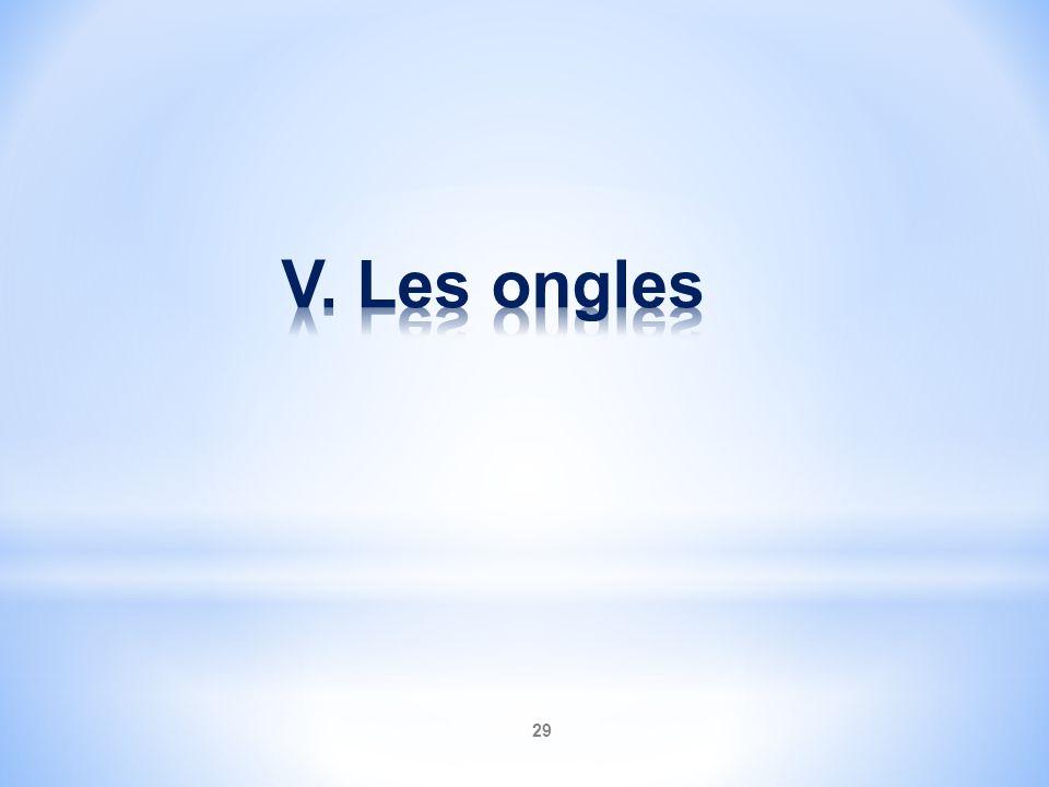V. Les ongles