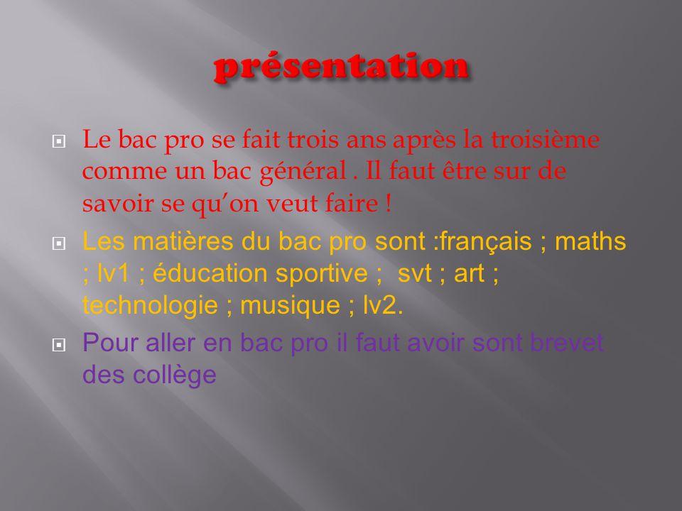 le bac pro antoine nicolaizeau 3c d u00e9couverte professionnel