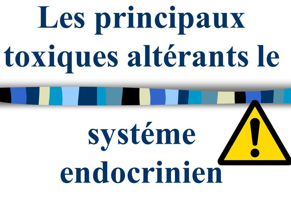 Les principaux toxiques altérants le systéme endocrinien
