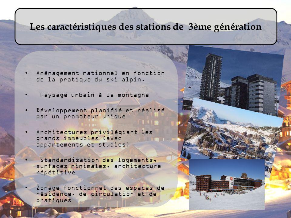 Les caractéristiques des stations de 3ème génération