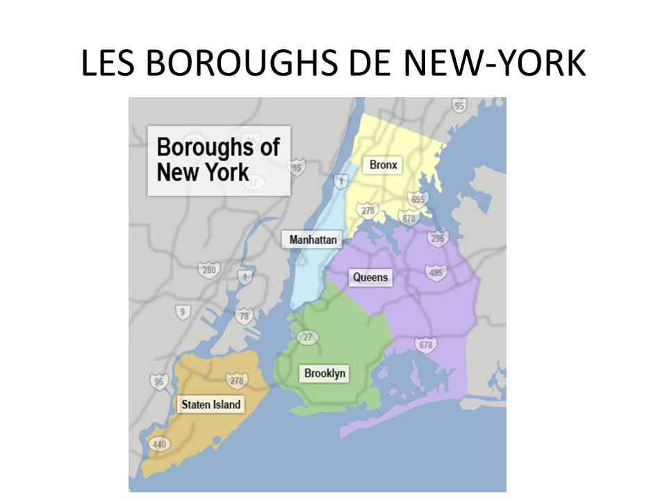 LES BOROUGHS DE NEW-YORK