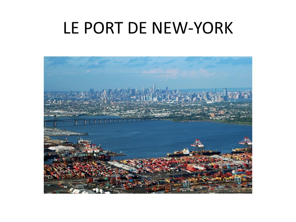 LE PORT DE NEW-YORK