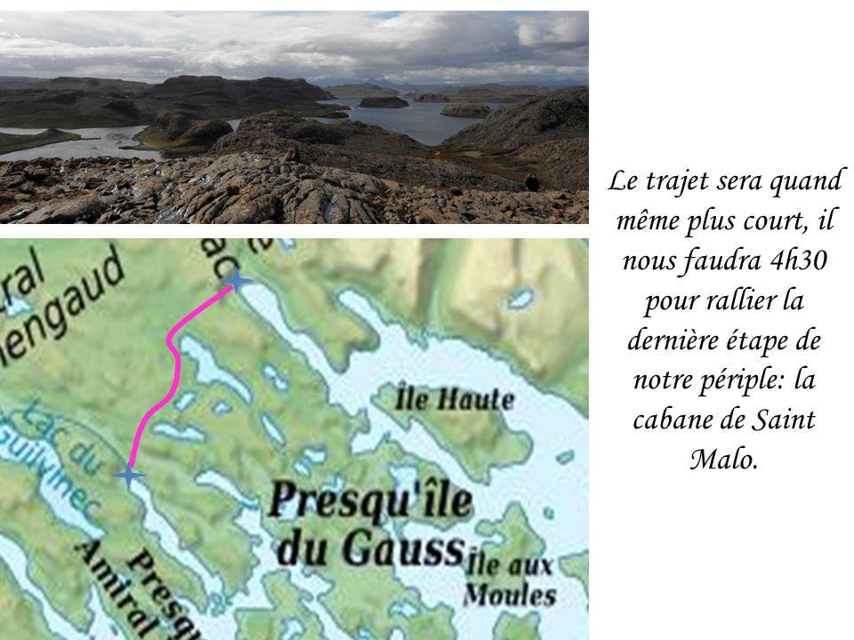 Le trajet sera quand même plus court, il nous faudra 4h30 pour rallier la dernière étape de notre périple: la cabane de Saint Malo.