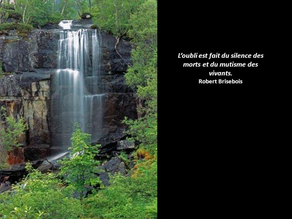 L'oubli est fait du silence des morts et du mutisme des vivants.