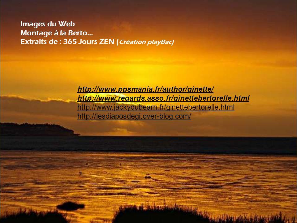 Images du Web Montage à la Berto… Extraits de : 365 Jours ZEN (Création playBac) http://www.ppsmania.fr/author/ginette/