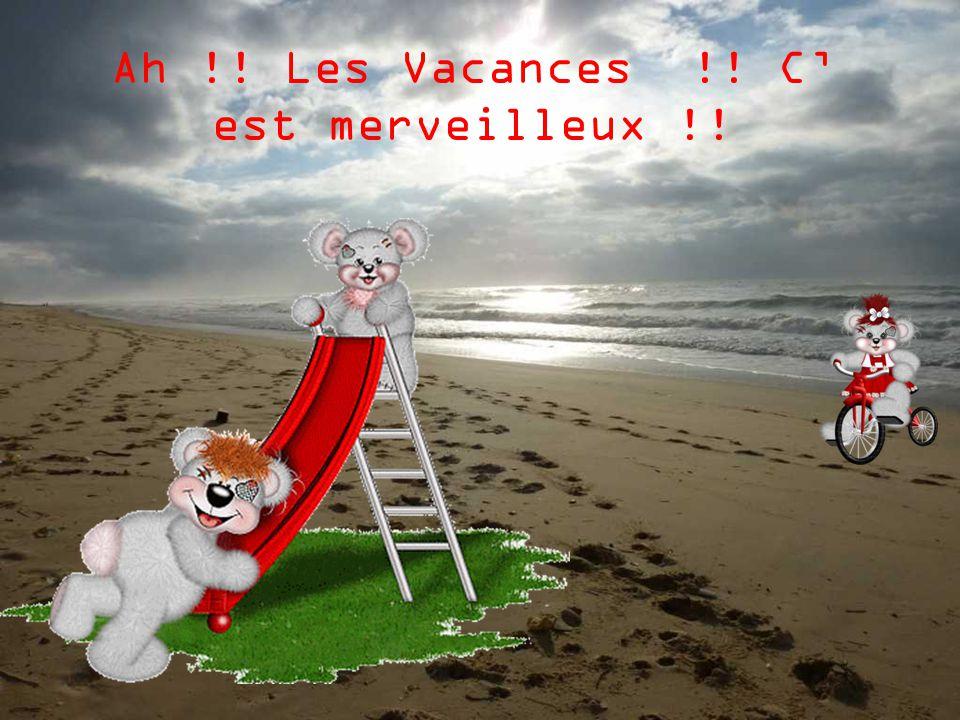 Ah !! Les Vacances !! C' est merveilleux !!