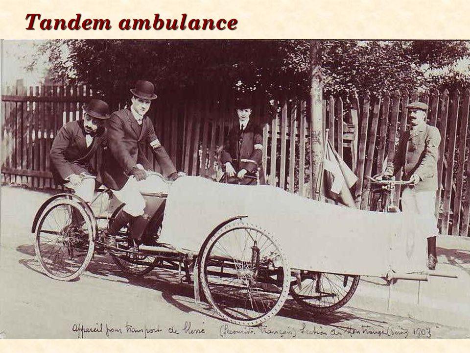 Tandem ambulance