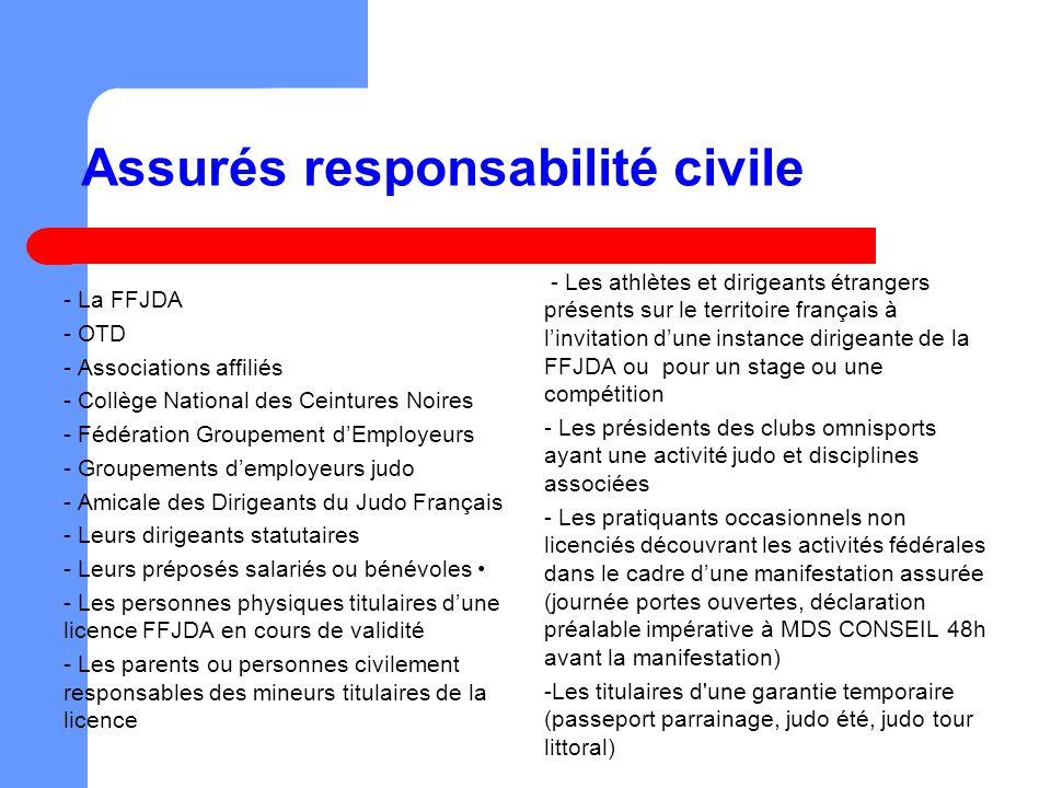 Assurés responsabilité civile