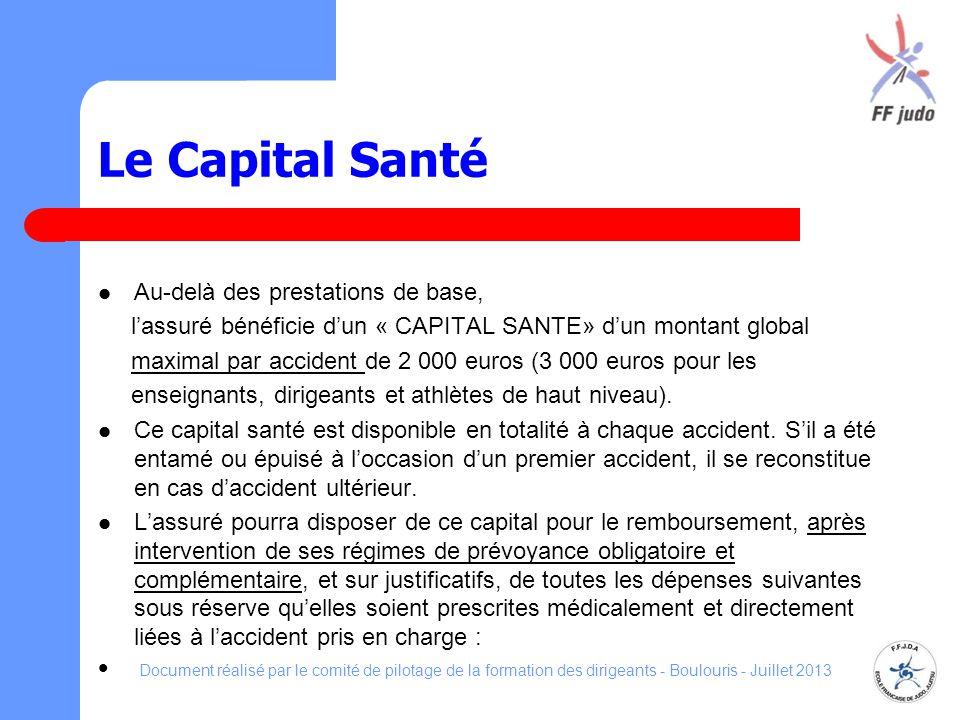 Le Capital Santé Au-delà des prestations de base,