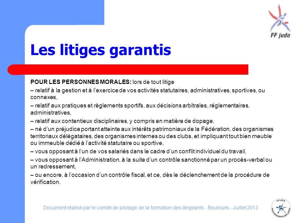 Document réalisé par le comité de pilotage de la formation des dirigeants - Boulouris - Juillet 2013