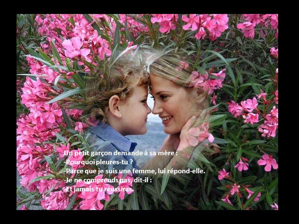 Un petit garçon demande à sa mère :