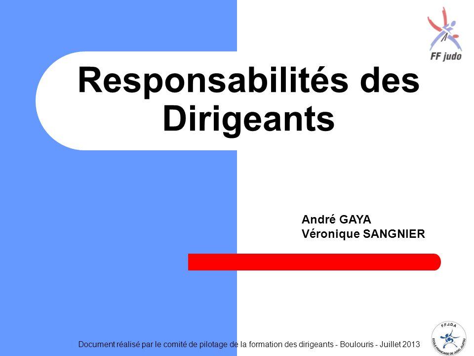 Responsabilités des Dirigeants