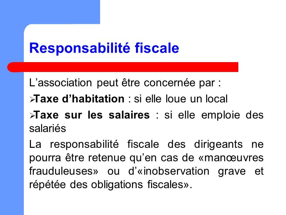 Responsabilité fiscale