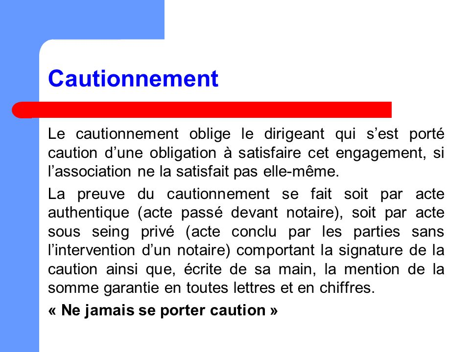 Cautionnement
