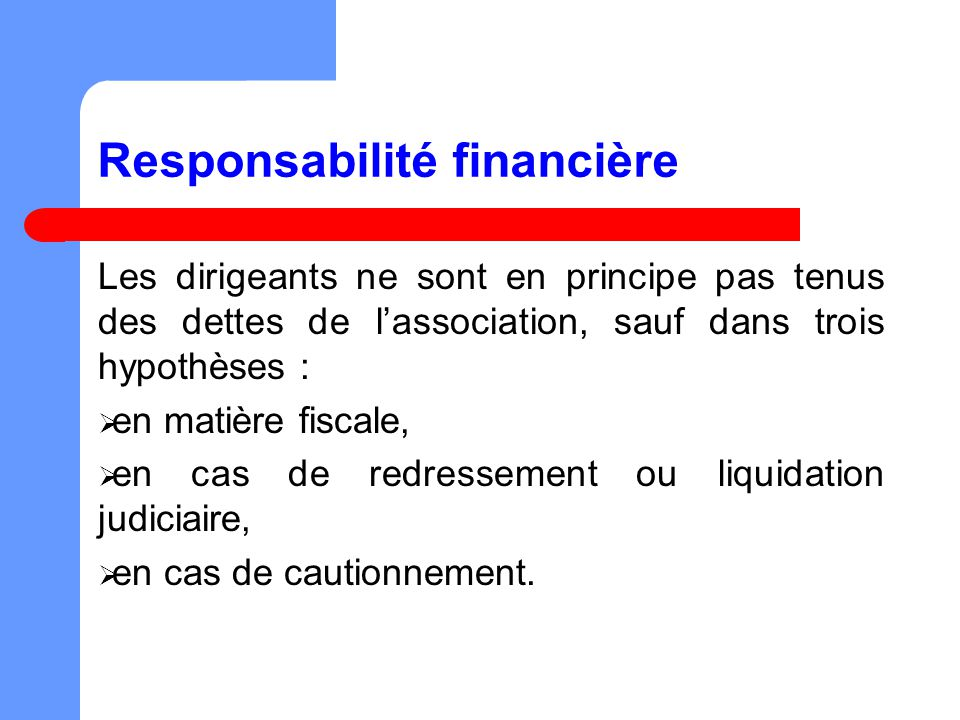 Responsabilité financière