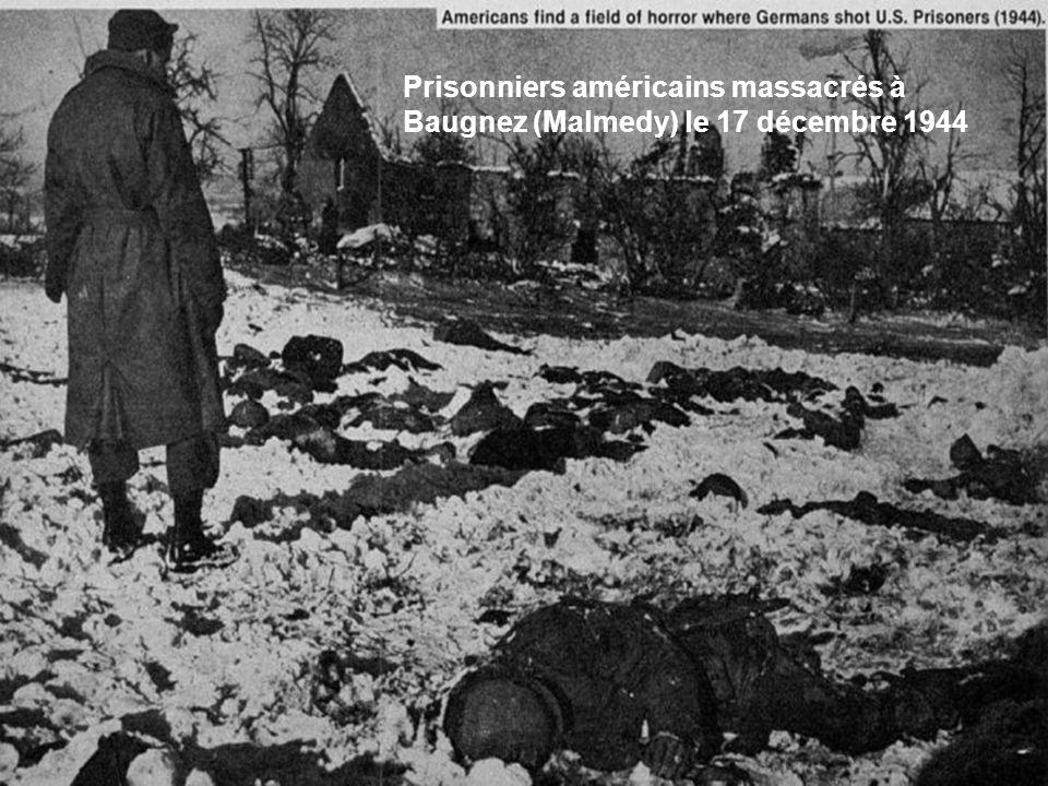 Prisonniers américains massacrés à Baugnez (Malmedy) le 17 décembre 1944