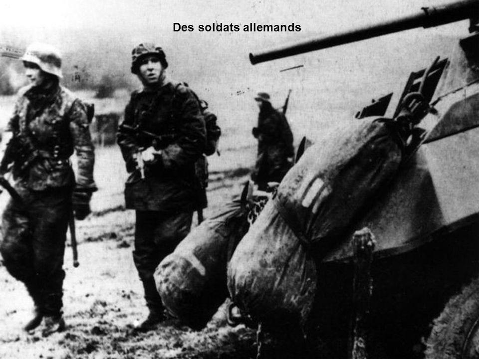 Des soldats allemands