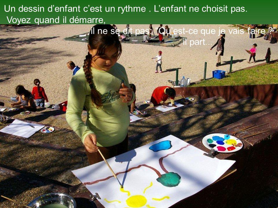 Un dessin d'enfant c'est un rythme . L'enfant ne choisit pas.