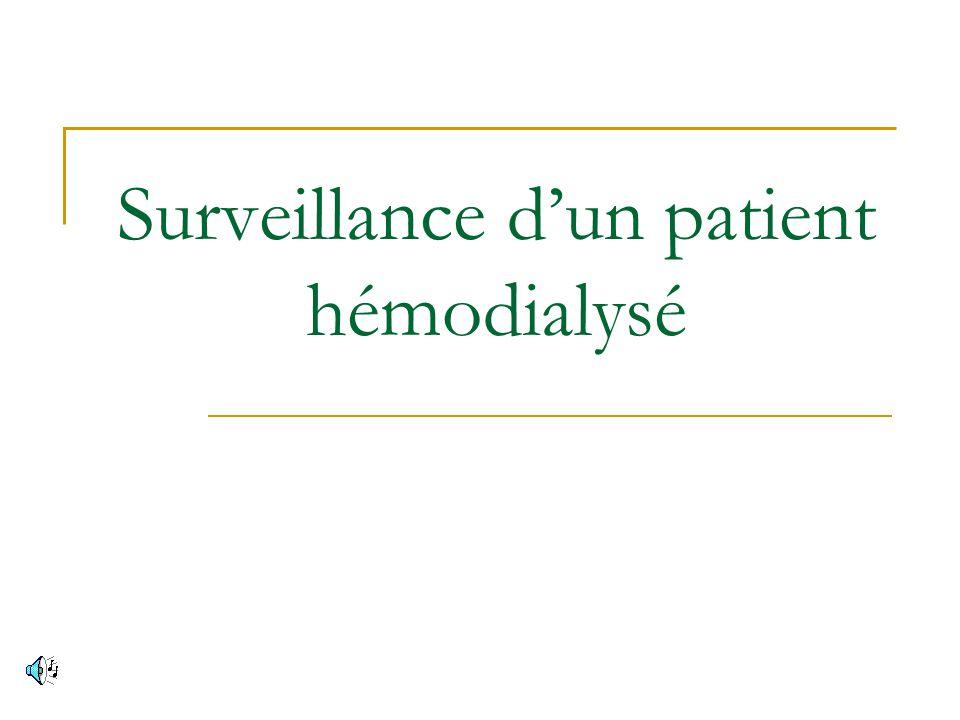 Surveillance d'un patient hémodialysé