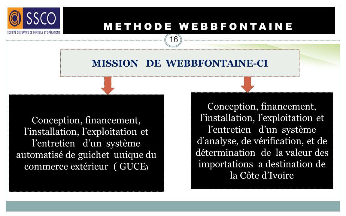 MISSION DE WEBBFONTAINE-CI