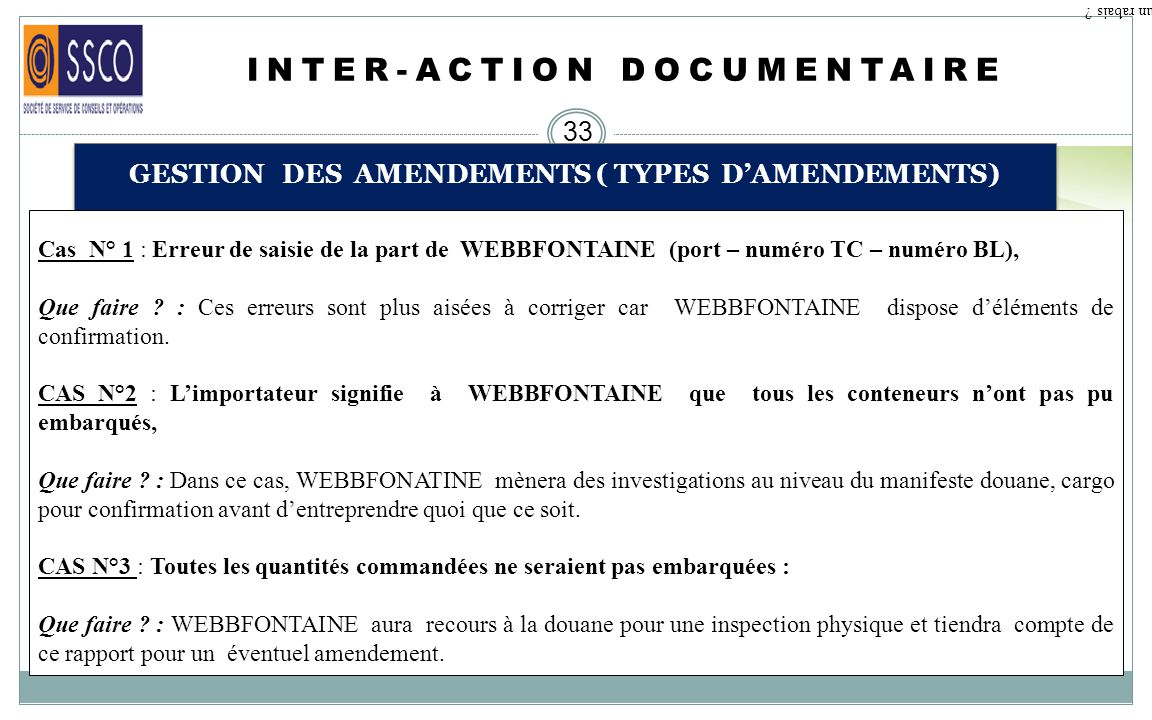 INTER-ACTION DOCUMENTAIRE